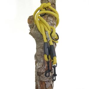 Gassizeug Leine aus Kletterseil in gelb/schwarz
