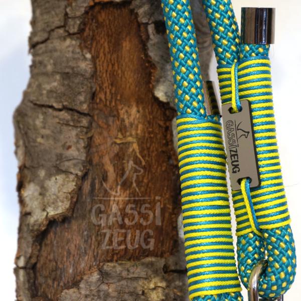 Gassizeug Leine aus Seil in gelb/türkis