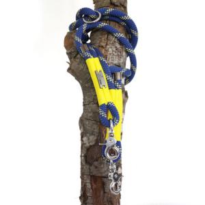 Gassizeug Leine aus Kletterseil in blau/gelb/gelb