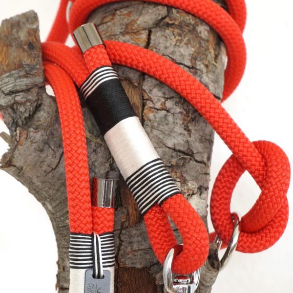 Gassizeug Leine aus Kletterseil in rot