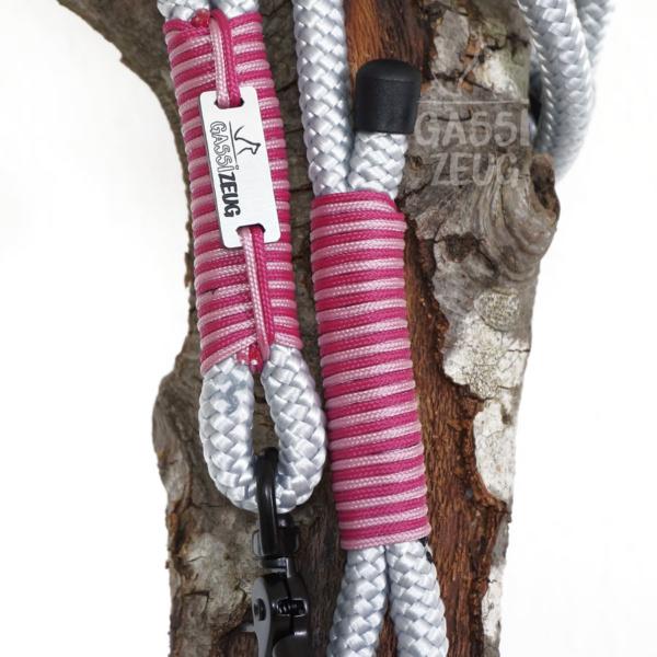 Gassizeug PPM Leine grau mit pink und rosa